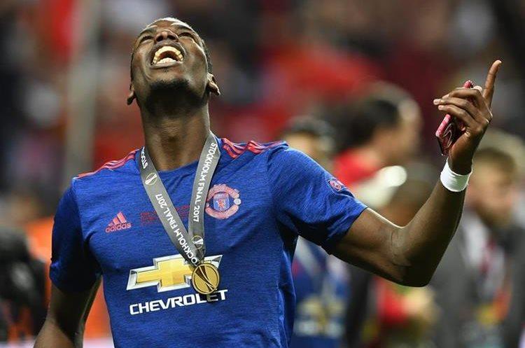 Paul Pogba fue determinante en la victoria del Mánchester United  contra el Ajax, en la final de la Europa League. (Foto Prensa Libre: AFP).