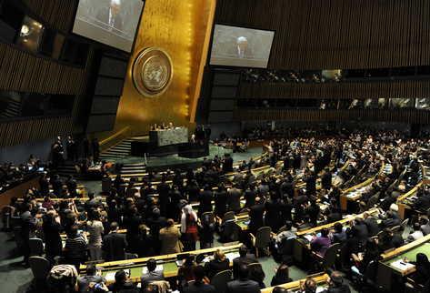 La Asamblea General de la ONU, en Nueva York aprobó a Palestina como Estado observador.