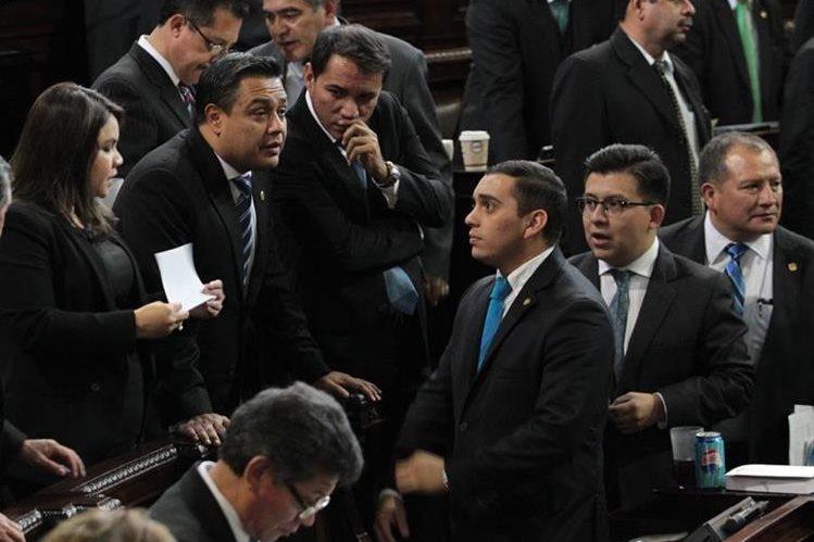 Diputados de FCN Nación, durante una sesión plenaria. (Foto Prensa Libre: Hemeroteca PL)