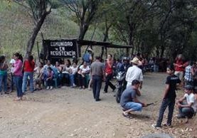 La Puya es el nombre con el que se conoce la resistencia de los vecinos de los municipios, comenzó en 2012 con un plantón. (Foto Prensa Libre: Hemeroteca PL)