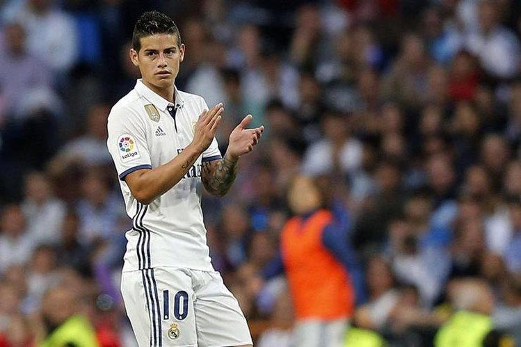 El colombiano James Rodríguez se despide del Real Madrid. (Foto Prensa Libre: Hemeroteca PL)