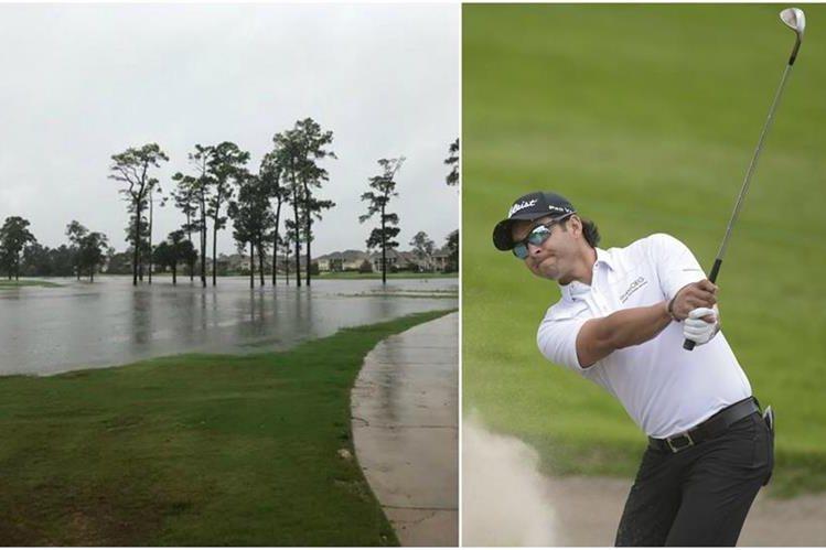 El golfista guatemalteco José Toledo tuvo que evacuar su casa en Houston, debido al huracán Harvey. (Foto Prensa Libre: José Toledo y PGA Tour LA)