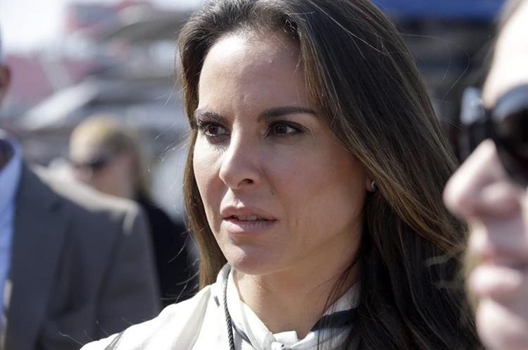 "FILE - In this March 24, 2013 file photo, Mexican actress Kate Del Castillo attends a NASCAR Sprint Cup auto race in Fontana, Calif. Del Castillo stepped out of the fictional drug-trafficker roles she played on TV and got involved in the real world of drug capos, after Sean Penn credited her with setting up a secret meeting with the world's most-wanted drug lord Joaquin ""El Chapo"" Guzman. (AP Photo/Reed Saxon, File)"