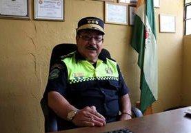 Édgar Cano fue reinstalado como jefe de la Policía Municipal de Tránsito de Huehuetenango. (Foto Prensa Libre: Mike Castillo)