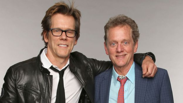 Kevin Bacon con su hermano Michael. (Getty Images)