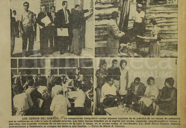 Aspectos del censo celebrado en 1964, los empadronadores visitaron diferentes sectores de la capital para recopilar los datos necesarios para realizar la estadística. (Foto: Hemeroteca PL)