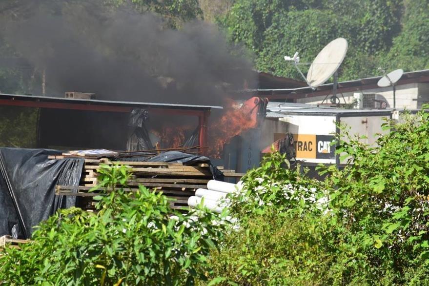 Una de las áreas que supuestamente fue incendiada por la turba, en San Mateo Ixtatán. (Foto Prensa Libre: Santiago Botón).