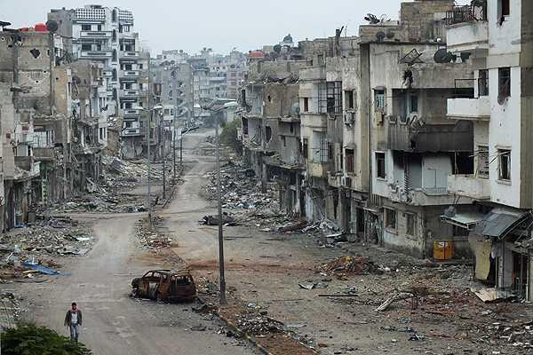 La antigua capital económica de Siria, Alepo, ha quedado devastada por la guerra desde el 2011. (Fofo: defonline.com.ar).