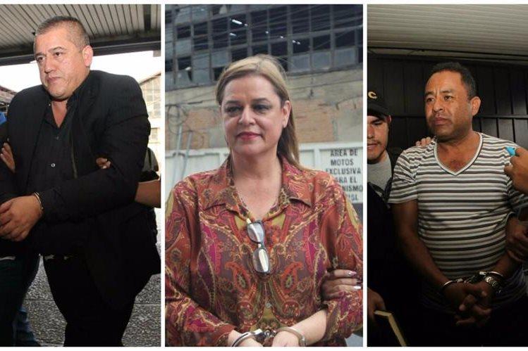 Carlos Rodas, Anahy Keller y Santos Torres a su llegada a Torre de Tribunales.(Foto Prensa Libre: Érick Ávila).