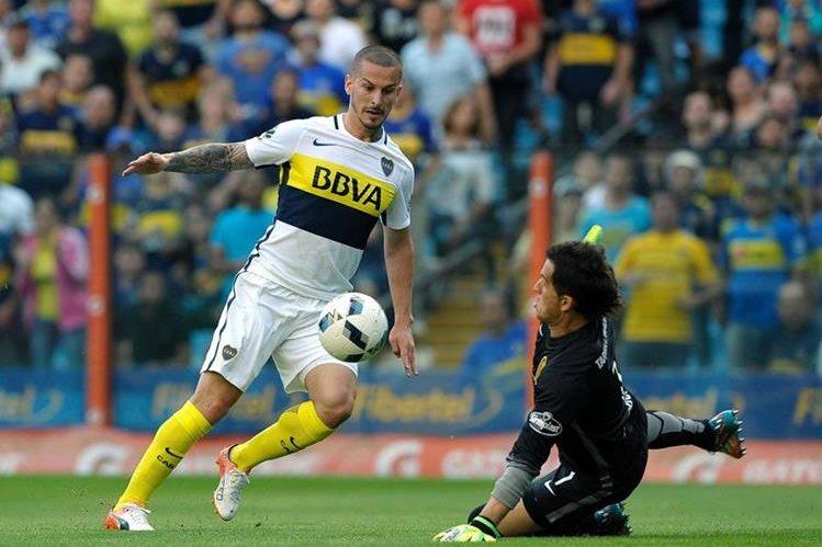 Boca Juniors tropezó en La Bombonera frente a Rosario Central. (Foto Prensa Libre: AFP)