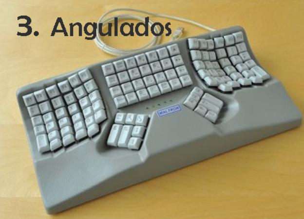 Estos teclados intentan ajustarse al contorno natural de las manos y antebrazos, para lo cual experimentan no solo con la forma, sino también con la curvatura de la superficie del teclado. (DOMINIO PÚBLICO).