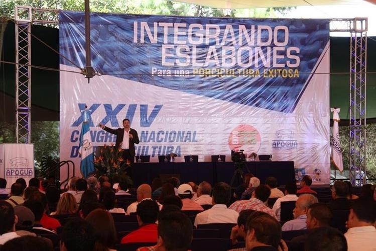 Durante congreso de porcicultores declararán al país libre de fiebre porcina. (Foto Prensa Libre: Renato Melgar)