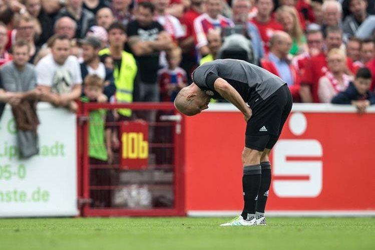 Robben ha sufrido varias lesiones en los últimos meses. (Foto Prensa Libre: AP)