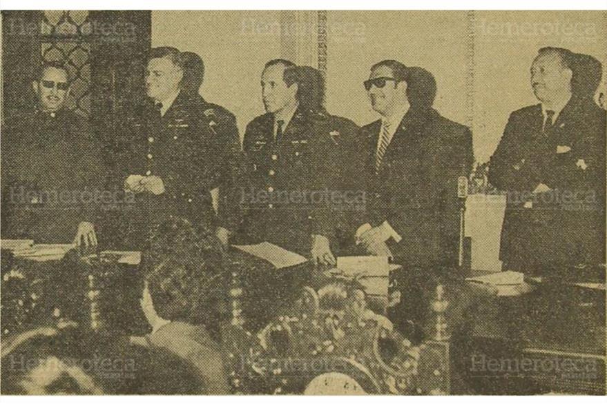 14/11/1970. Raúl Palomo, Leonel Vassaux,  Virgilio Villagrán, Julio César Anzuelo y  Manuel Tónehez. (Foto: Hemeroteca PL)