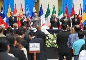 El presidente Jimmy Morales no asistió a la presentación del informe de labores de la Cicig, el pasado 10 de octubre. (Foto Prensa Libre: Hemeroteca PL).