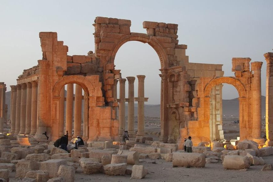 La Unesco teme la destrucción de la ciudad patrimonial de más de dos mil años de antigüedad. (Foto Prensa Libre: EFE).