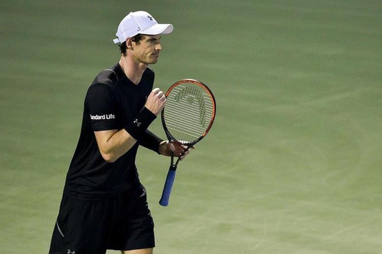 Andy Murray festeja luego de ganarle a Guillermo García López en el Abierto de Dubai. (Foto Prensa Libre: AFP)