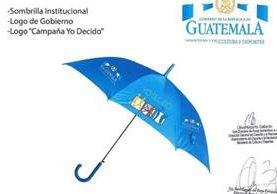 """El viceministerio de Deportes busca adquirir dos mil paraguas con el logotipo del Gobierno y del programa """"Yo decido"""". (Foto Prensa Libre)"""