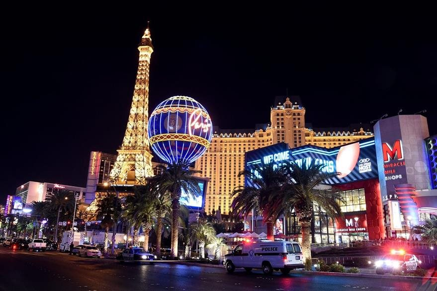 Las Vegas Strip es la avenida más concurrida en Las Vegas y donde se ubican la mayoría de casinos. (Foto Prensa Libre: AFP).