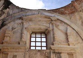 Los trabajos de restauración de la Catedral de Antigua Guatemala avanzan de manera satisfactoria. (Foto Prensa Libre: Julio Sicán)