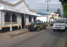 Subestación de la PNC en Parramos, Chimaltenango, donde un agente fue hallado muerto. (Foto Prensa Libre)
