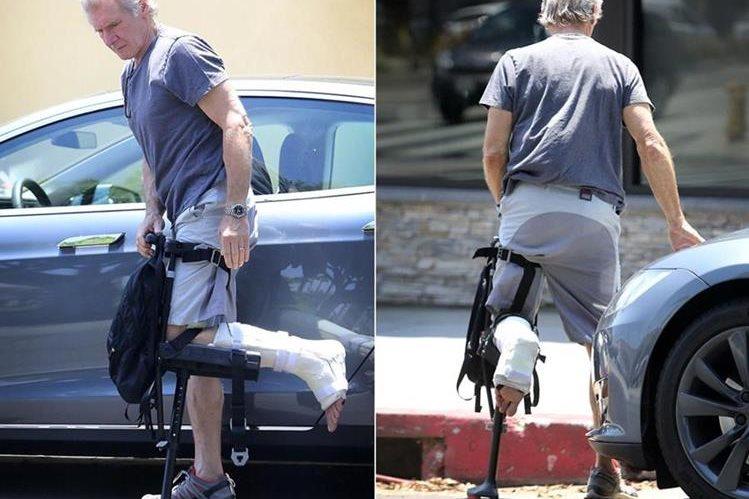 Harrison Ford se lastimó una pierna durante el rodaje de Star Wars, en el 2014. (Foto Prensa Libre: www.nydailynews.com)