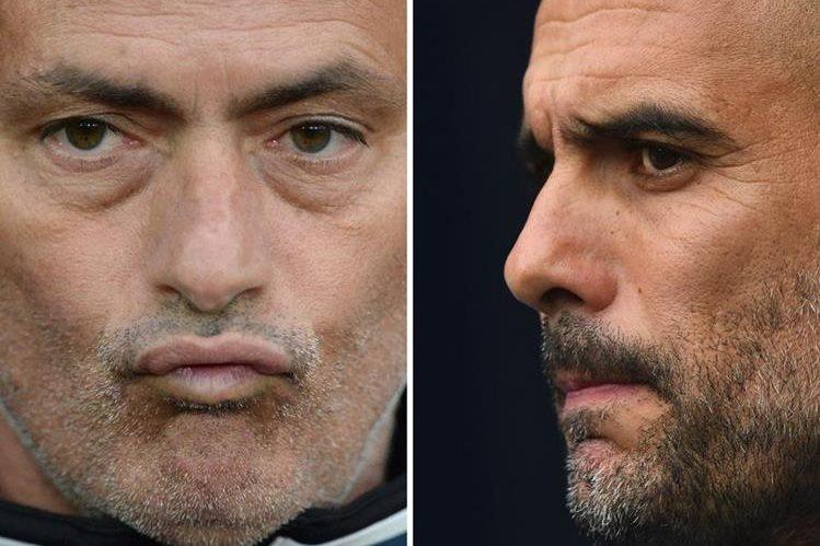 Mourinho y Guardiola tuvieron roces en el futbol español. (Foto Prensa Libre: AFP)