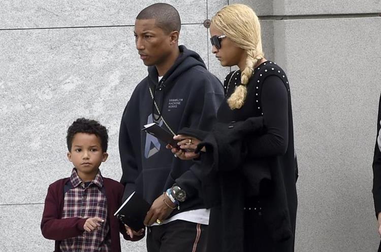 Pharrell Williams, con su familia.