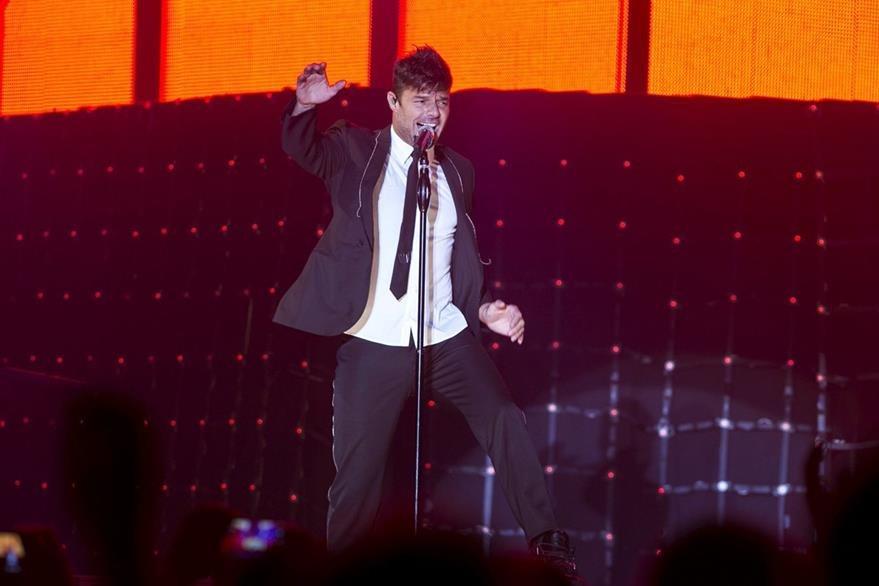 La sensualidad de Ricky Martin se hizo sentir en España. (Foto Prensa Libre: EFE)