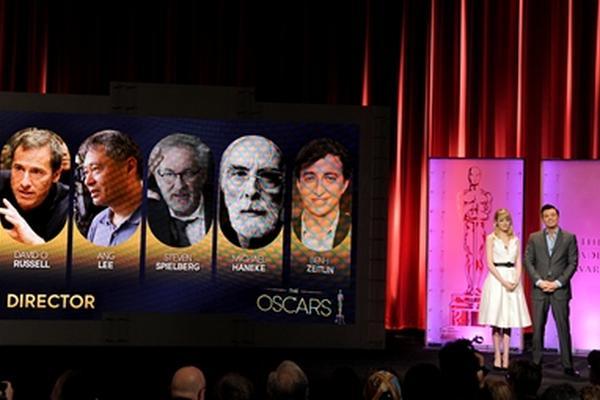 <p>La actriz Emma Stone y Seth MacFarlane anuncian a los postulados para la 85 entrega de los Premios de la Academia.</p><p> </p>
