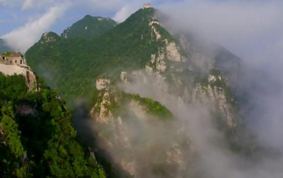 Una de las impresionantes vistas de la Muralla China.