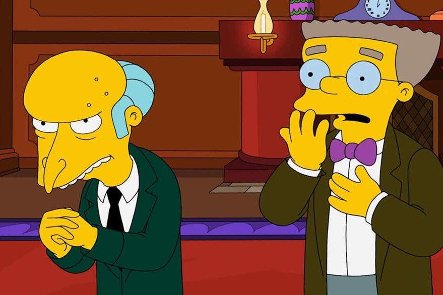 En los nuevo episodios Smithers, asistente del señor Burns, dará a conocer abiertamente su homosexualidad. (Foto Prensa Libre: Hemeroteca PL)