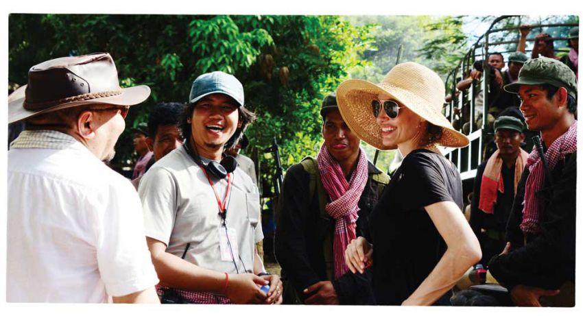 Jolie, durante la filmación. (Foto: Hemeroteca PL).