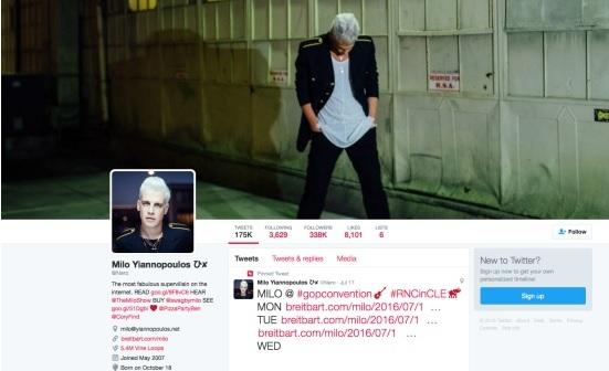 Milo Yiannopoulos fue una de las personas que escribió mensajes racistas contra la estrella de Hollywood. (Foto Prensa Libre: Twitter)