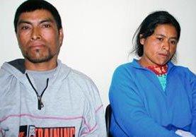 Dos de los capturados en Cuilco, Huehuetenango, sindicados de haber participado en la muerte de un hombre. (Foto Prensa Libre: Mike Castillo)
