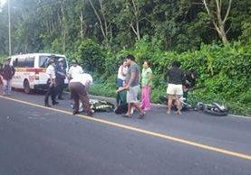 Lugar donde murió Marvin Puac, en la ruta hacia San Francisco Zapotitlán. (Foto Prensa Libre: Melvin Popá).