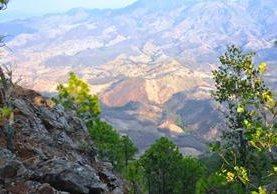 Maravillosa vista desde el Cerro Weshqué en Chiquimula. (Foto Prensa Libre: Mario Morales)