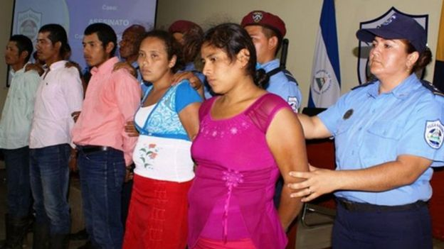 Cinco personas fueron detenidas por el crimen de Vilma Trujillo. POLICÍA NACIONAL DE NICARAGUA