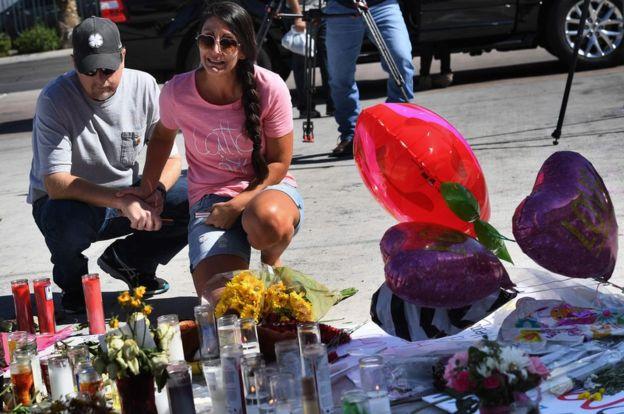 Días después, en Las Vegas todavía no saben por qué sucedió el ataque del fin de semana. AFP