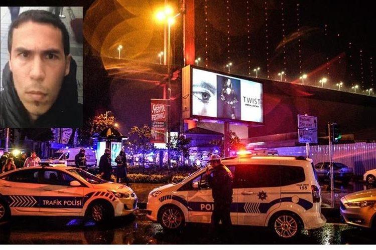 El principal sospechoso (inserto) del ataque a una discoteca en Estambul fue identificado por Turquía. (Foto Prensa Libre:AFP).
