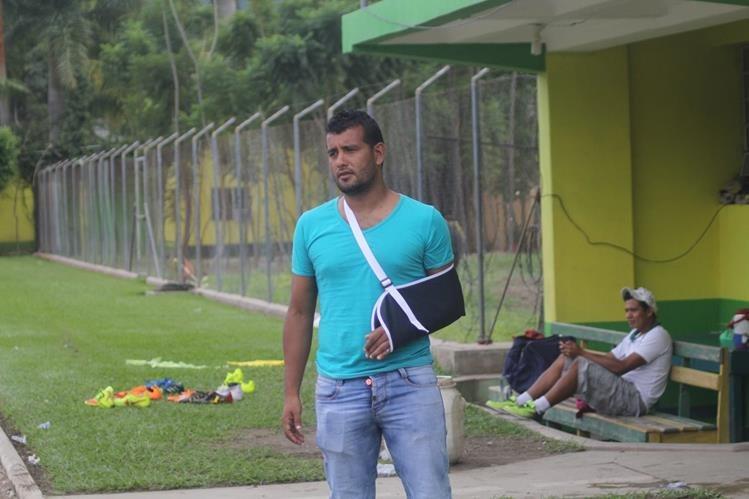 Víctor Solalinde, durante la práctica de Guastatoya. (Foto Prensa Libre: Hugo Oliva)