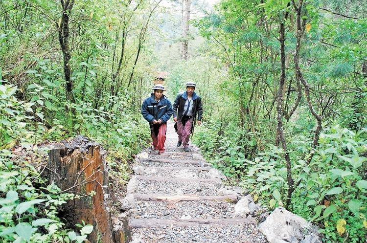 El recorrido   tiene  una extensión aproximada de 1.5 km, la mayor parte con gradas.