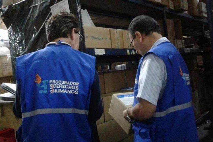 Según la PDH, se comprobó que los productos denunciados por mala calidad se encuentran en grandes cantidades (Foto Prensa Libre: PDH).