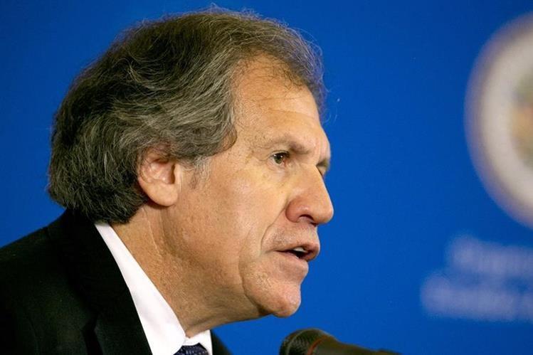 Luis Almagro, secretario general de la OEA no asistió a la reunión. (Foto Prensa Libre: AP).