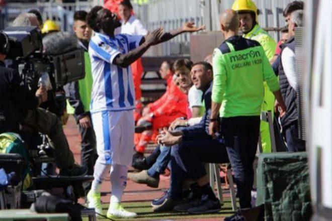 Muntari fue víctima de insultos racistas en la cancha del Cagliari. (Foto Prensa Libre: Hemeroteca)