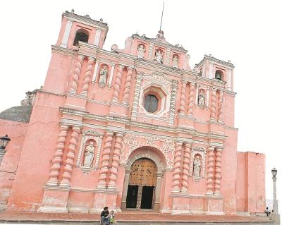 Templo de Asunción, Jocotenango, Sacatepéquez, construido en el siglo XVIII.
