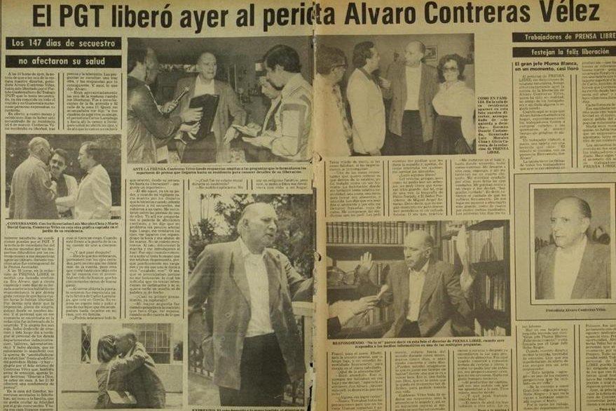 Noticia informando los detalles de la liberación de Contreras Vélez el 1 de agosto de 1982. (Foto: Hemeroteca PL)