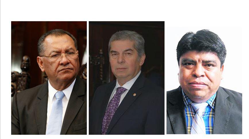 Los tres diputados fueron señalados pro el MP de crear plazas fantasma en el Congreso. (Foto Prensa Libre: Hemeroteca PL)