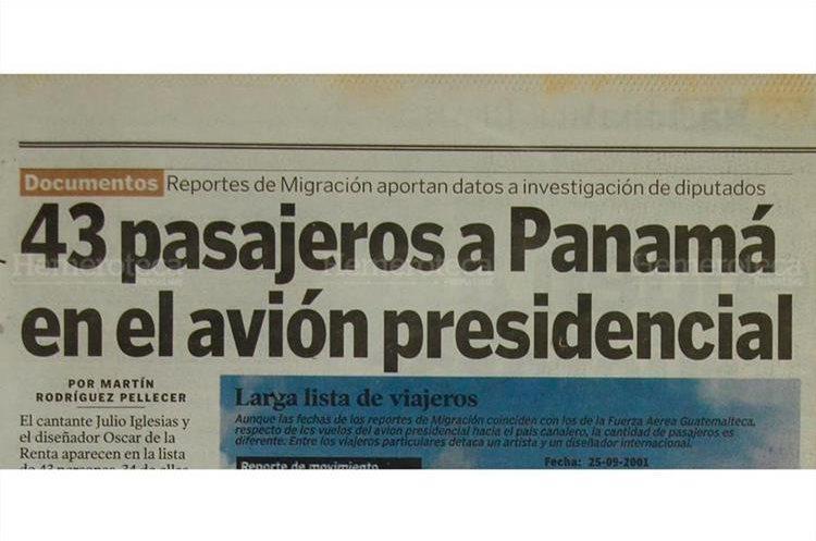 Prensa Libre dio a conocer que 43 personas viajaban en el avión presidencial. (Foto: Hemeroteca PL)