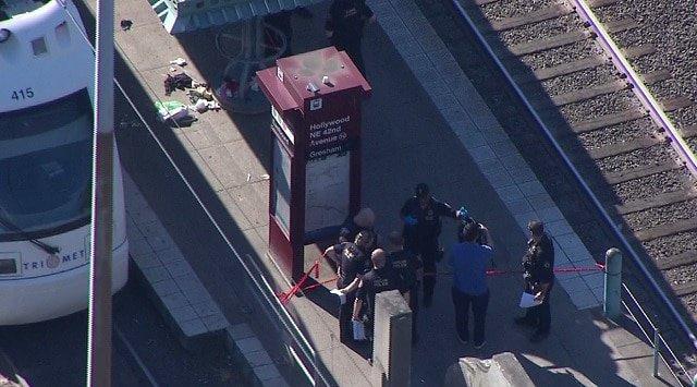 Estación del metro en Portland donde fueron asesinadas dos personas. (Foto Prensa Libre: Google)